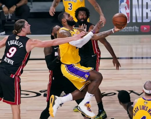 LeBron James and the Lakers take on the Miami Heat
