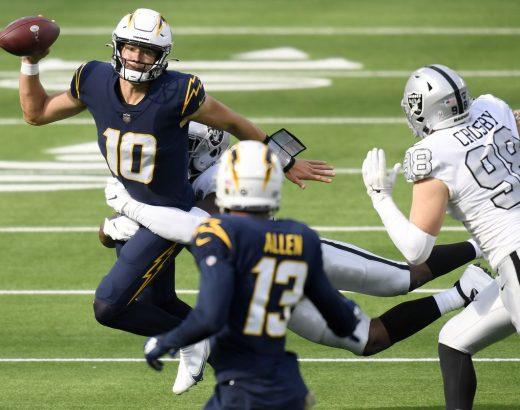 Raiders-Chargers Week 15 odds
