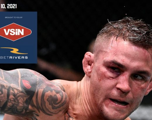 DUSTIN POIRIER on the cover of the BetRivers sports betting guide