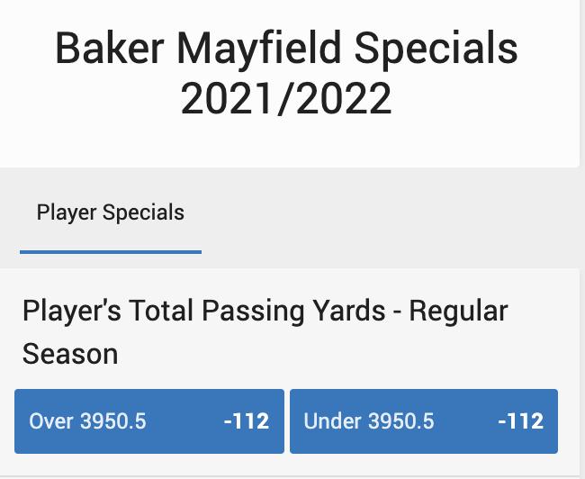 Baker Mayfield Specials